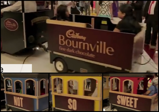 Here are the 4 train cars as they pass through the video.