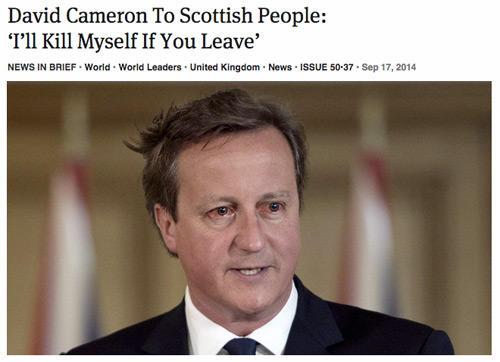 Snivelling David Cameron