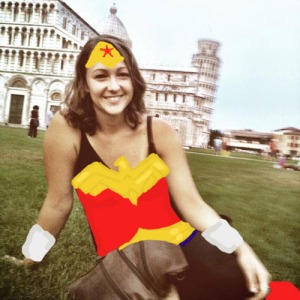 lisa as wonder woman